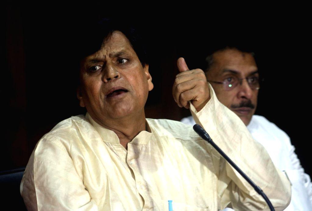 JDU MP Ali Anwar addresses a press conference in New Delhi on Aug 3, 2016.