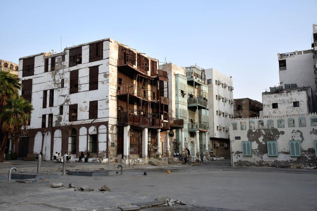 JEDDAH, Sept. 23, 2019 - Photo taken on Sept. 22, 2019 shows a view of Al-Balad, a historical area in Jeddah, Saudi Arabia. Al-Balad, a historical area of Saudi Arabia's second largest city Jeddah, ...