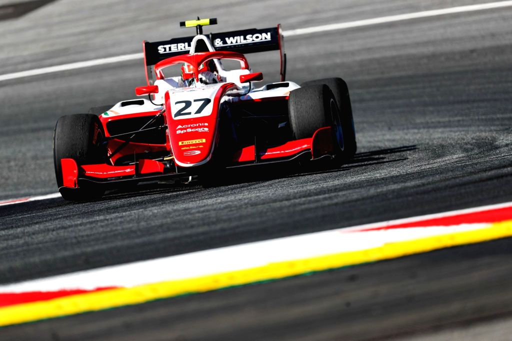 Jehan Daruvala in action during Round 3 of the FIA Formula 3 Championship in Austria.