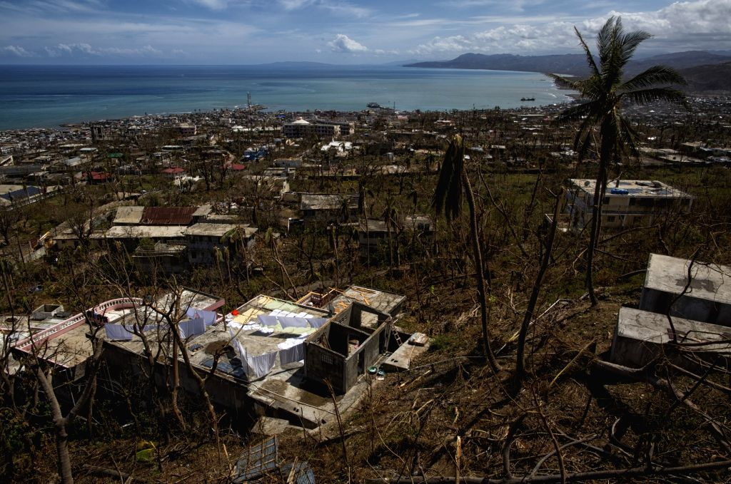 JEREMIE, Oct. 14, 2016 - Image provided by the United Nations Stabilization Mission in Haiti (MINUSTAH) shows a view of the rubble caused by Hurricane Matthew in Jeremie, Haiti, Oct. 11, 2016. One ...