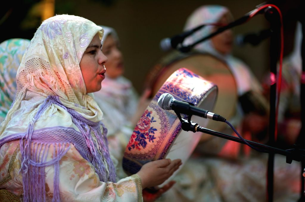 JERICHO, April 12, 2019 - A Moroccan band performs during the Nabi Musa Festival at Nabi Musa mosque near the West Bank city of Jericho, April 12, 2019. Nabi Musa Festival is a seven-day religious ...