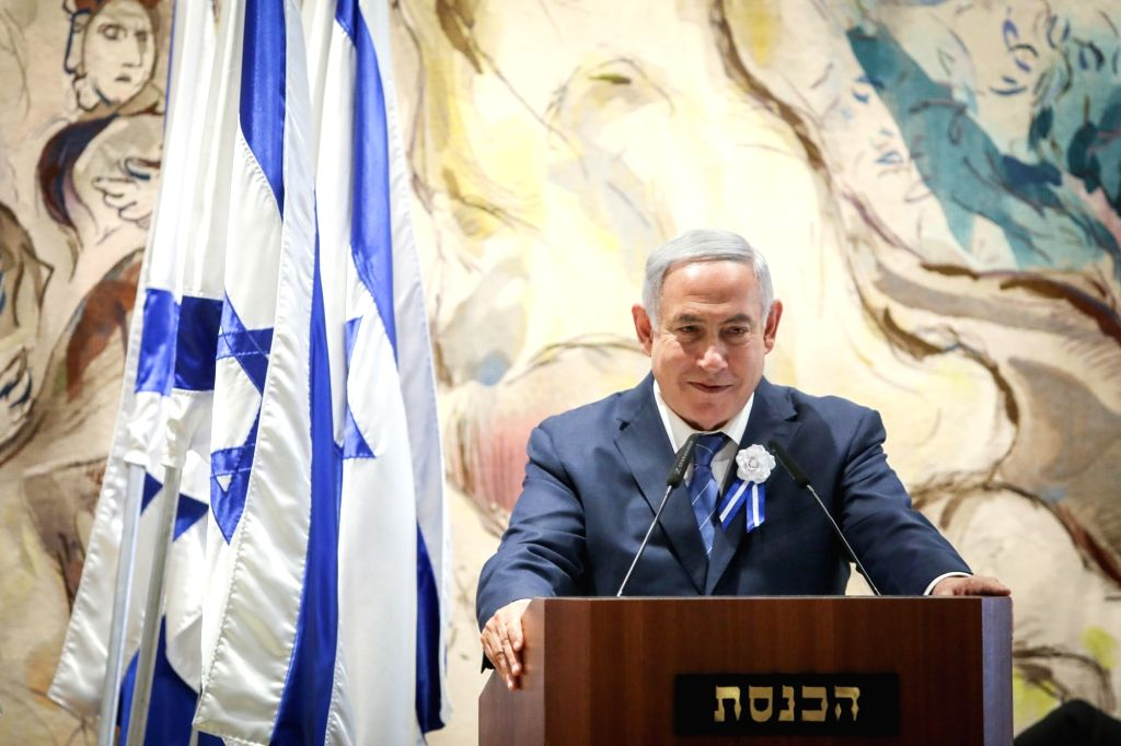 JERUSALEM, April 30, 2019 - Israeli Prime Minister Benjamin Netanyahu attends a ceremony to inaugurate Israel's 21st Knesset in Jerusalem, on April 30, 2019. The newly-elected Israeli parliament, or ... - Benjamin Netanyahu