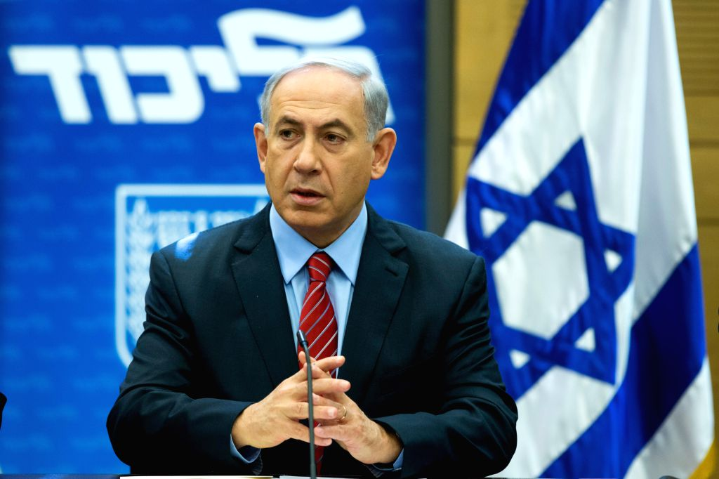 Israeli Prime Minister and Head of the Likud party Benjamin Netanyahu leads a Likud faction meeting at the Knesset (Israeli parliament) in Jerusalem, on Dec. 3, 2014. Israeli lawmakers ...