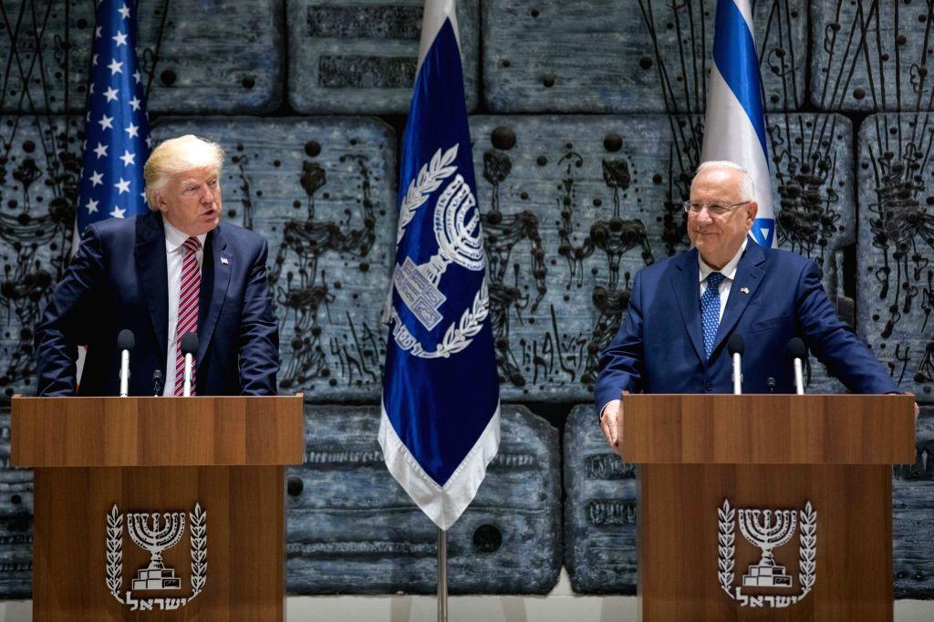 JERUSALEM, May 22, 2017 - U.S. President Donald Trump (L) meets with Israeli President Reuven Rivlin in Jerusalem. May 22, 2017.