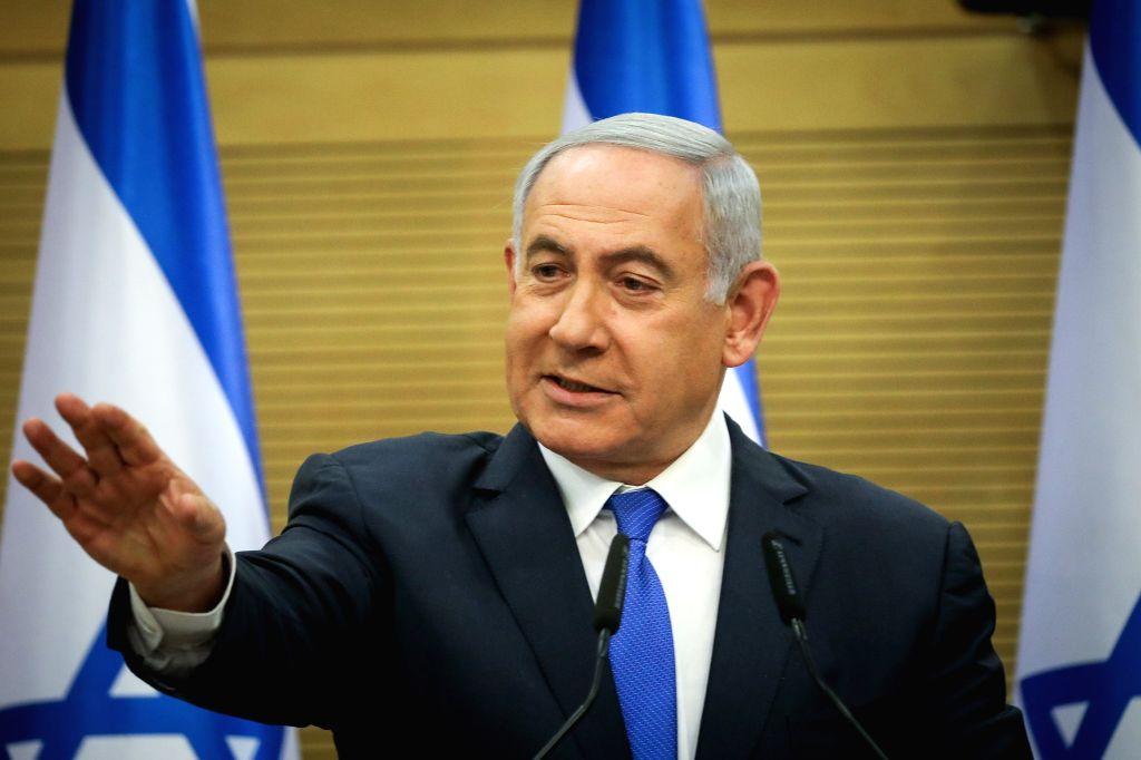 JERUSALEM, May 27, 2019 - Israeli Prime Minister Benjamin Netanyahu delivers a statement in Israeli parliament in Jerusalem, on May 27, 2019. Israeli Prime Minister Benjamin Netanyahu announced on ... - Benjamin Netanyahu