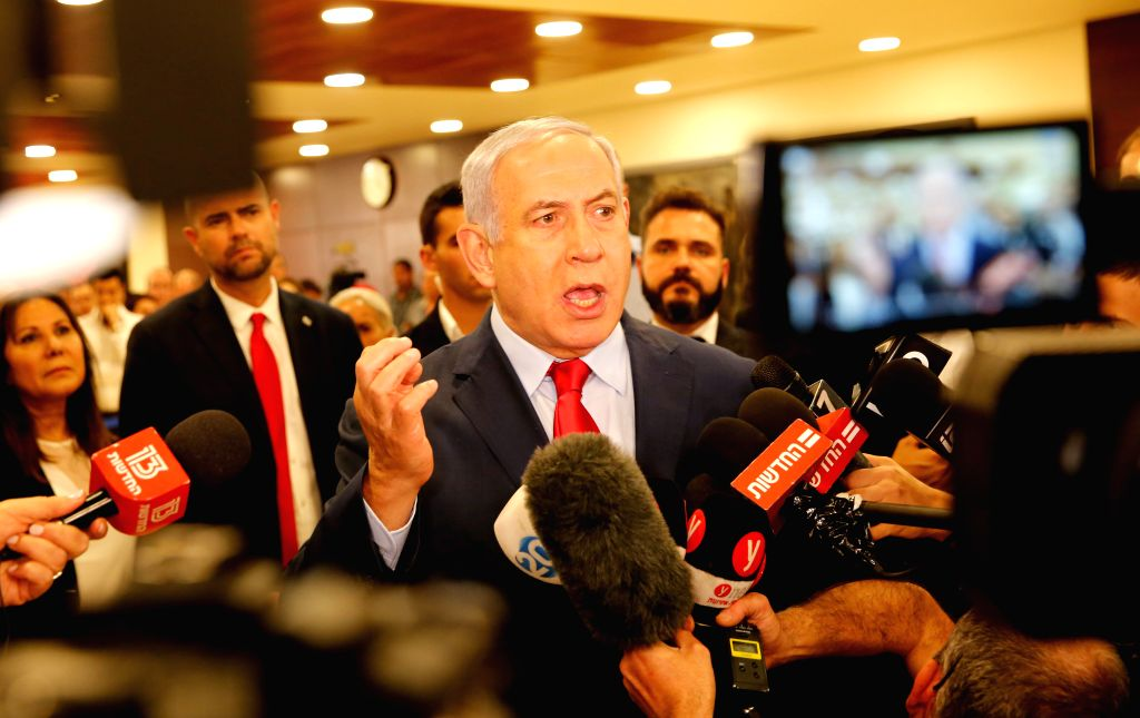 JERUSALEM, May 30, 2019 - Israeli Prime Minister Benjamin Netanyahu (front) speaks at the Knesset, the Israeli parliament, in Jerusalem, on May 30, 2019. The Israeli parliament on Wednesday night ... - Benjamin Netanyahu