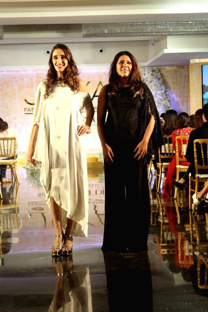 Jewellery designer Farah Ali Khan Walks Ramp For Reshma Merchant At Joya Fashion & Lifestyle Exhibition in Mumbai on Sept 12, 2017.
