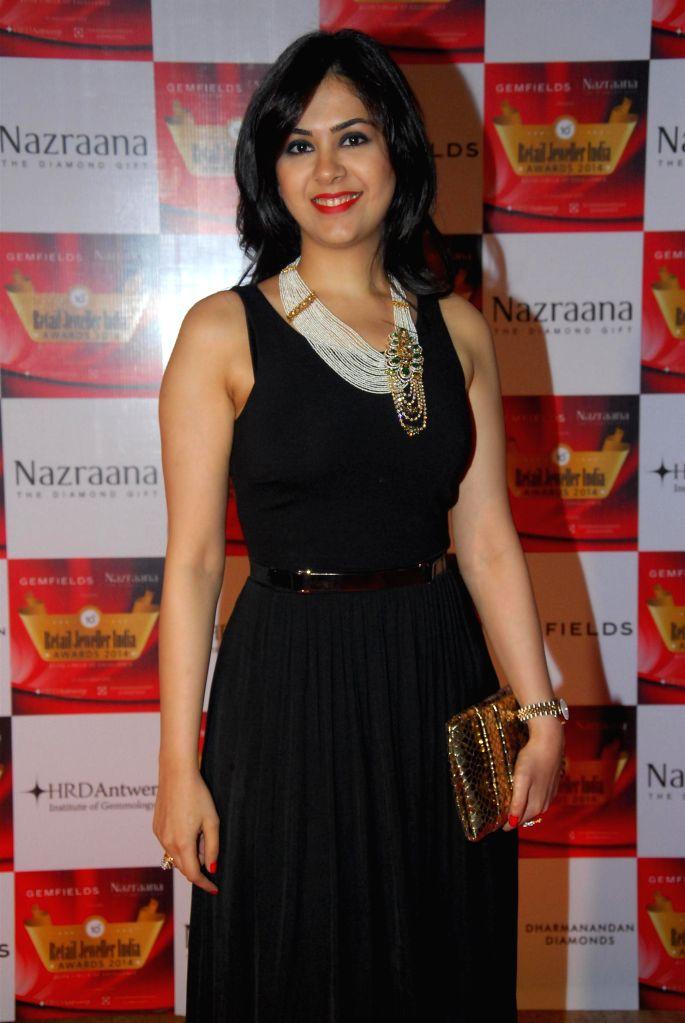 Jewellery Designer Neha Lulla during the 10th Annual Gemfields and Nazraana Retail Jeweller India Awards 2014 in Mumbai on July 19, 2014. (Photo : IANS)