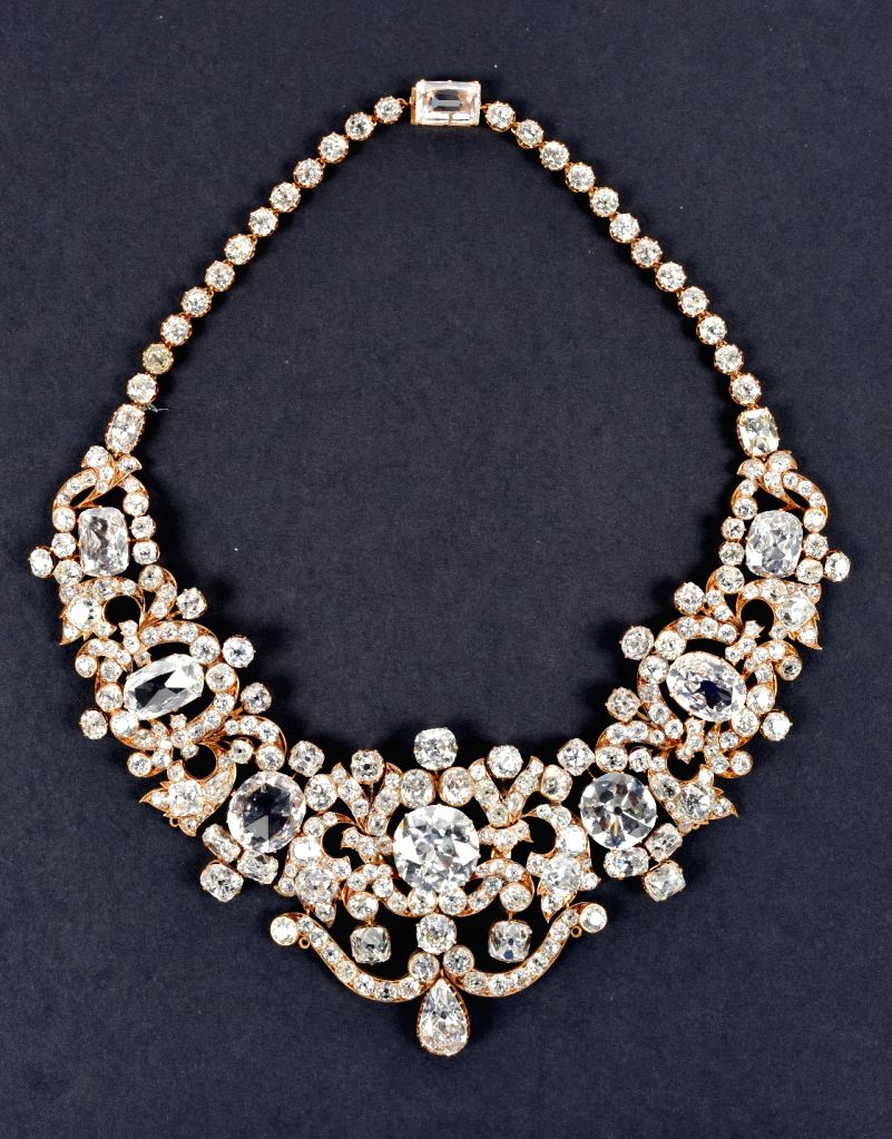 """Jewellery on display during """"Jewels of India: The Nizam's Jewellery Collection"""", a temporary exhibition at the National Museum in New Delhi. (Photo Courtesy:  National Museum)"""