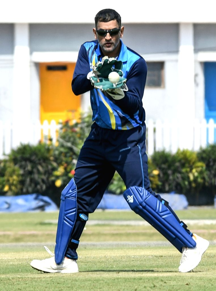 Jharkhand captain MS Dhoni during Vijay Hazare Trophy match between Jharkhand and Services at Bengal Cricket Academy Ground in Kalyani of West Bengal on Feb 28, 2017. - MS Dhoni