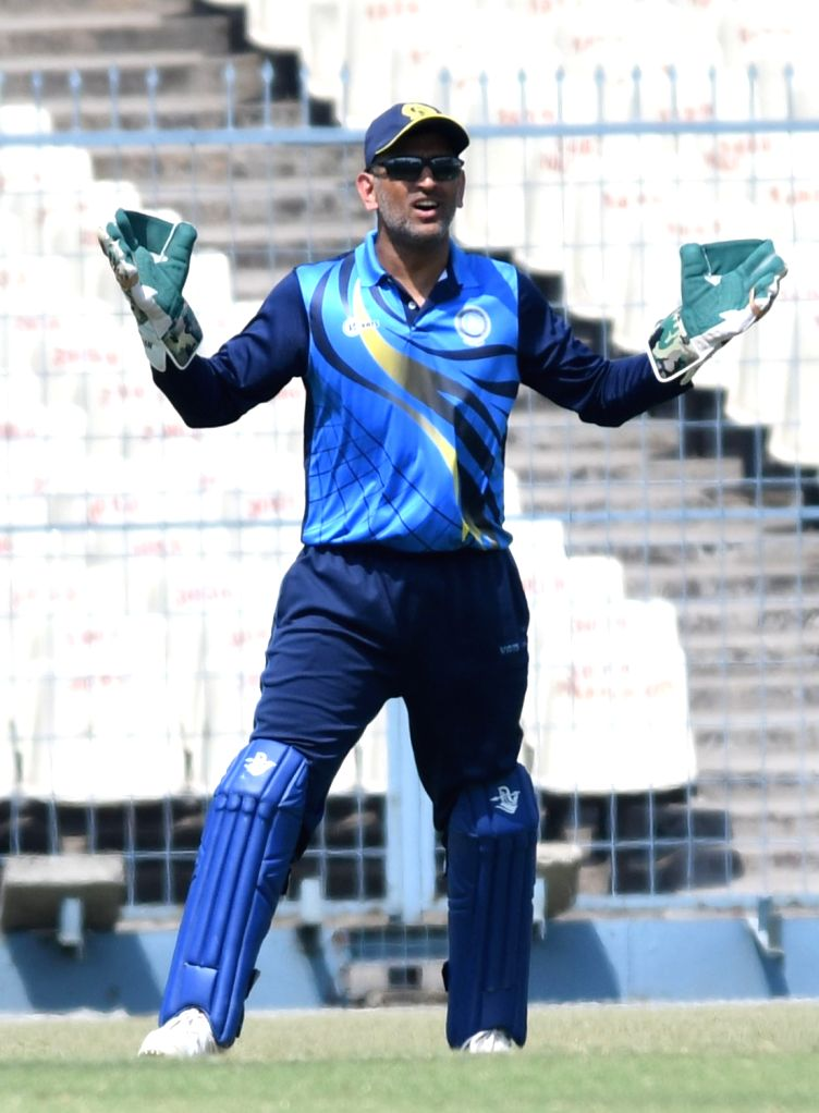 Jharkhand captain MS Dhoni during Vijay Hazare Trophy match between Jharkhand and Saurashtra at Bengal Cricket Academy Ground in Kalyani of West Bengal on March 1, 2017. - MS Dhoni