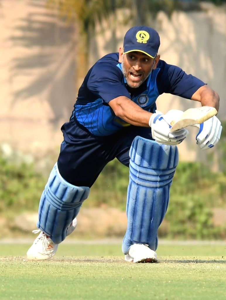 Jharkhand captain MS Dhoni during Vijay Hazare Trophy match between Jharkhand and Hyderabad at Jadavpur University Campus 2nd Ground in Kolkata on March 3, 2017. - MS Dhoni