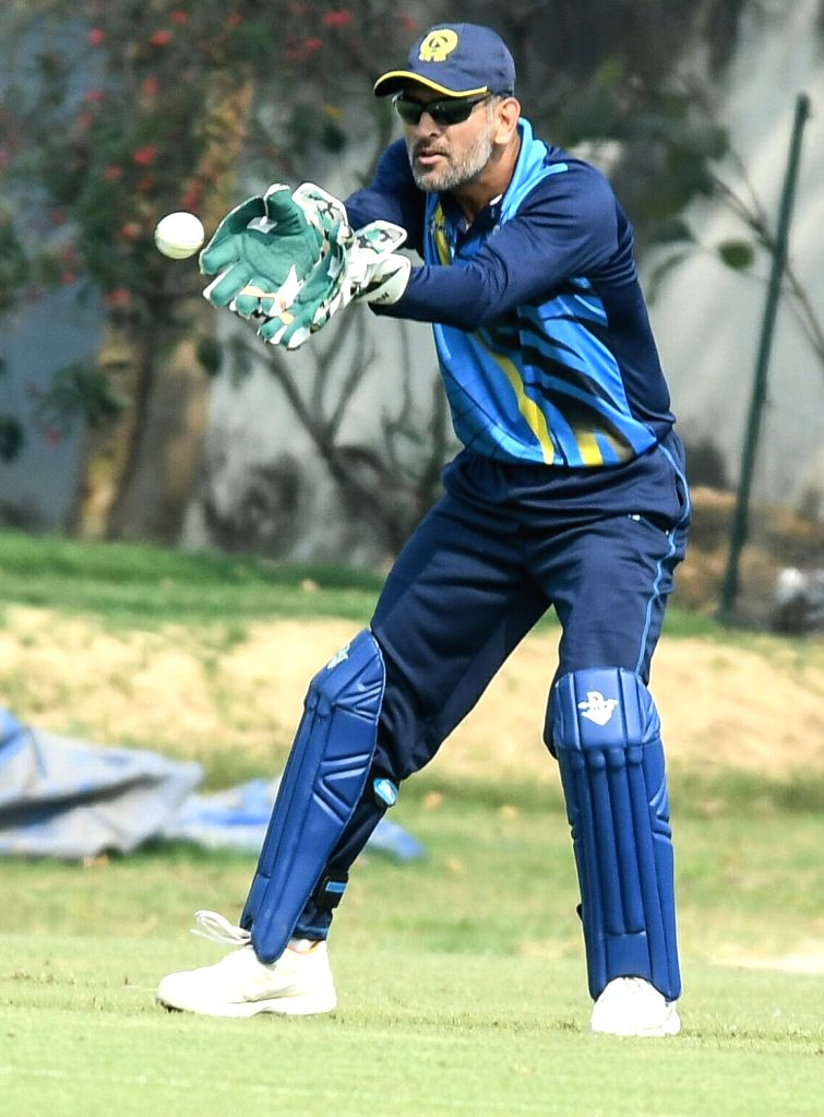 Jharkhand captain MS Dhoni in action during a  Vijay Hazare Trophy match against Jammu and Kashmir in Kalyani of West Bengal on March 6, 2017. - MS Dhoni