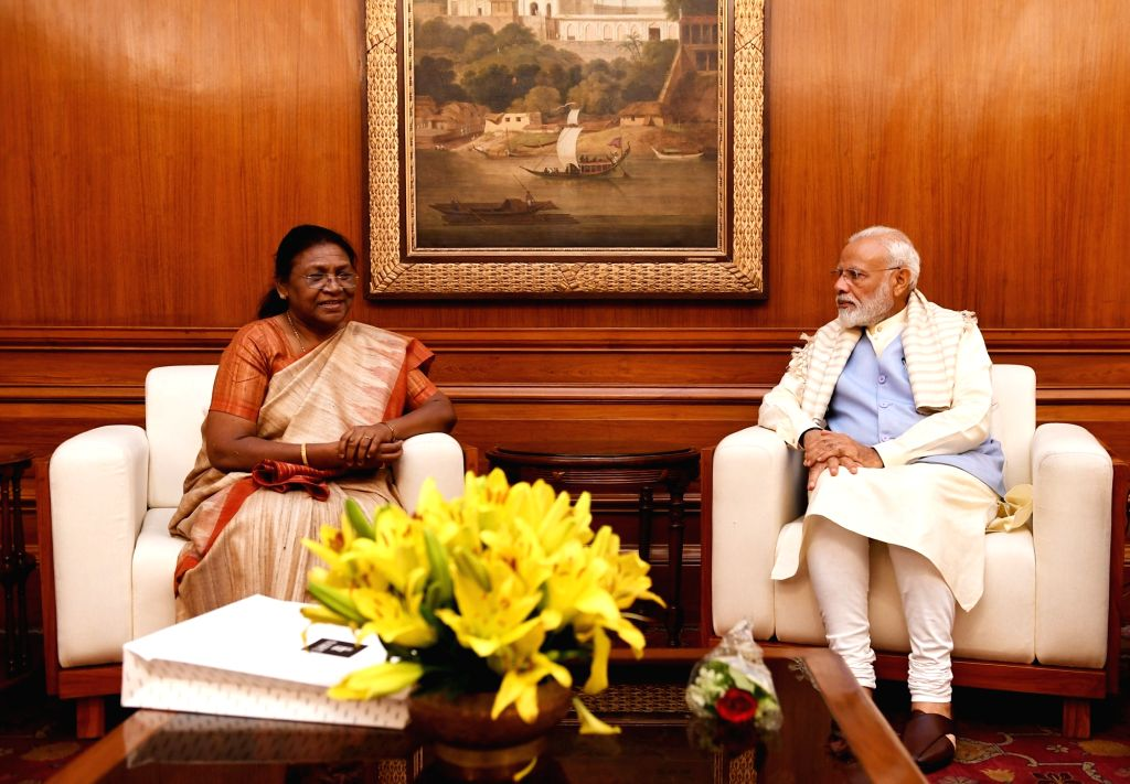 Jharkhand Governor Draupadi Murmu calls on Prime Minister Narendra Modi in New Delhi on May 31, 2019. - Narendra Modi