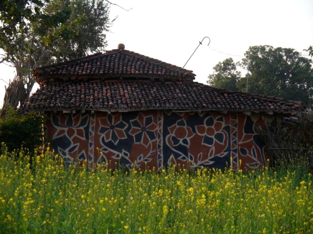 Jharkhand's Sohrai and Khovar tribal art. (Photo source: Virasat Trust)