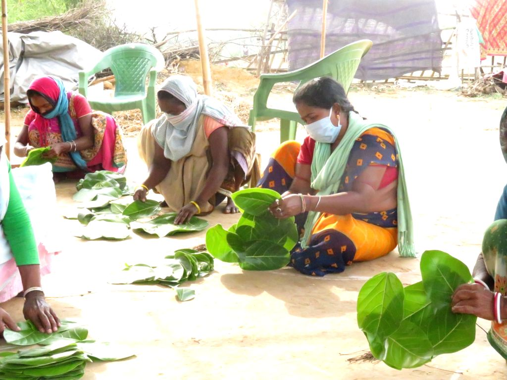 Jharkhand: Tribal families decking out lives from leaves.