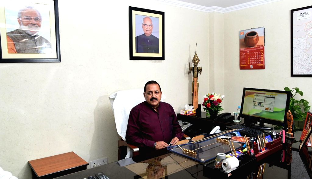 Jitendra Singh takes charge as the Minister of State for Development of North Eastern Region (Independent Charge), in New Delhi on May 31, 2019. - Jitendra Singh