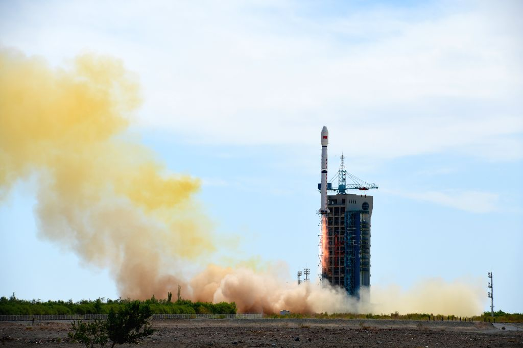 JIUQUAN, June 29, 2016 - A Long March-4B rocket carrying China's second Shijian-16 series satellite blasts off at the Jiuquan Satellite Launch Center in Jiuquan, northwest China's Gansu Province, ...
