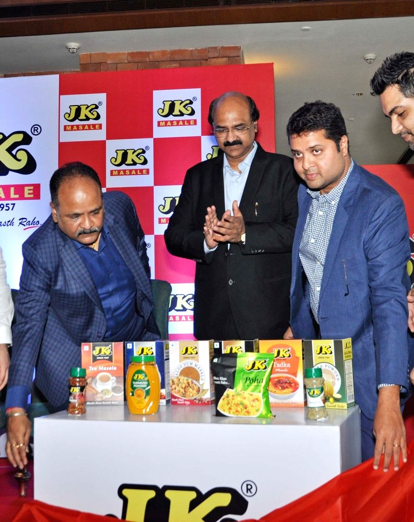 JK Spices and Food Products Director Ashok Jain and Sales and Marketing Director Vijay Jain during a product launch programme, in Kolkata on July 24, 2018. - Ashok Jain and Vijay Jain