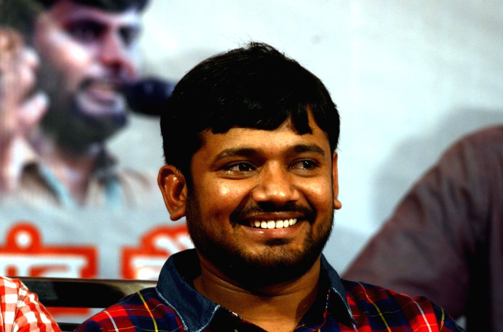 JNUSU president Kanhaiya Kumar addresses a students rally in Tilak Nagar in Mumbai on April 23, 2016. - Kanhaiya Kumar