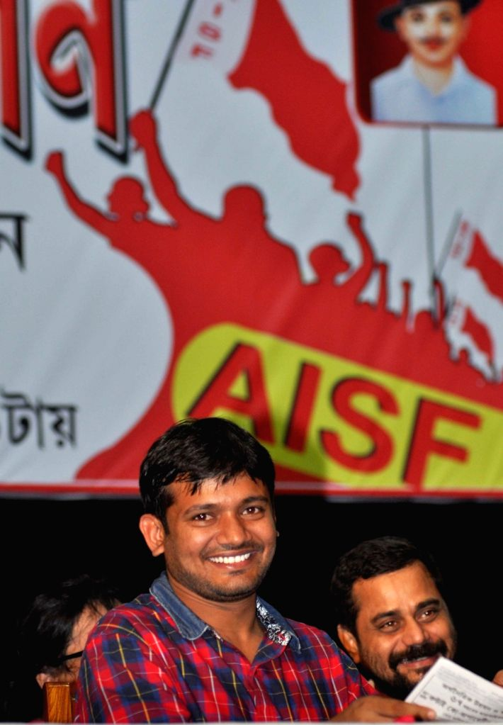 JNUSU President Kanhaiya Kumar during a convention in Kolkata on Sept 8, 2016. - Kanhaiya Kumar