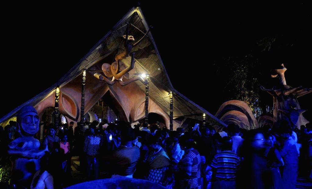 Jodhpur Park Durga Puja pandal in Kolkata, on Oct 19, 2015.