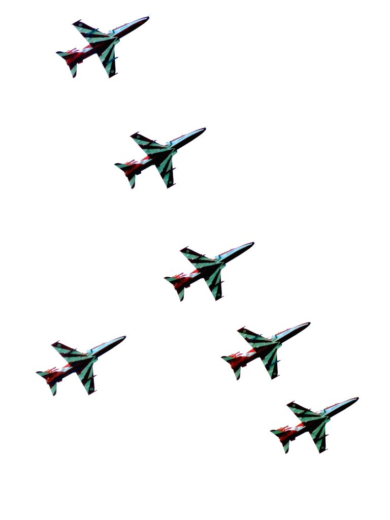 Jodhpur : Surya Kiran Aerobatic Team (SKAT) performs during Air show rehearsals in Jodhpur of Rajasthan on Oct 26, 2016.