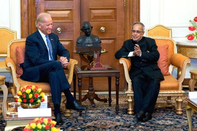 Joe Biden condoles Pranab Mukherjee's death. (Credit: Twitter/JoeBiden) - Pranab Mukherjee