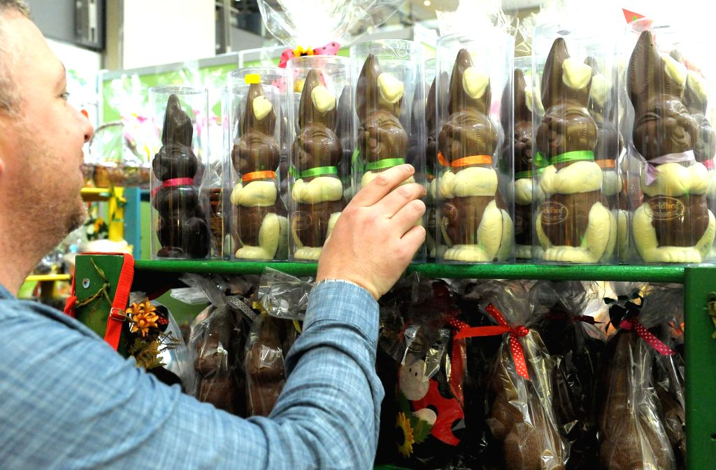 A man shops at an Easter market at Sandton City in Johannesburg, South Africa, on April 19, 2014.
