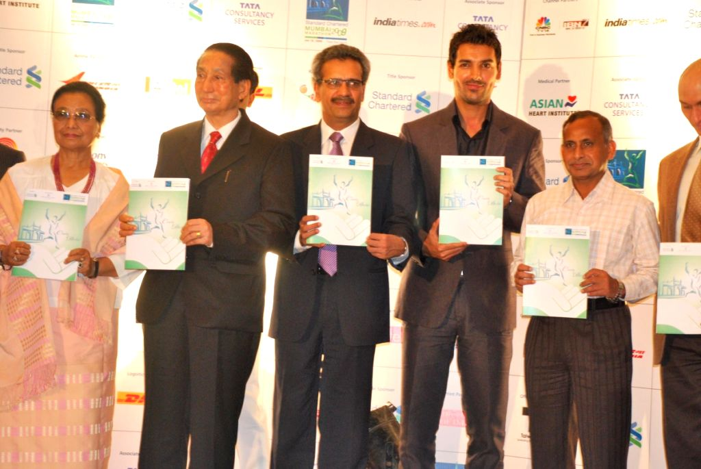 John Abraham at Standard Chartered Marathon Prize distribution.