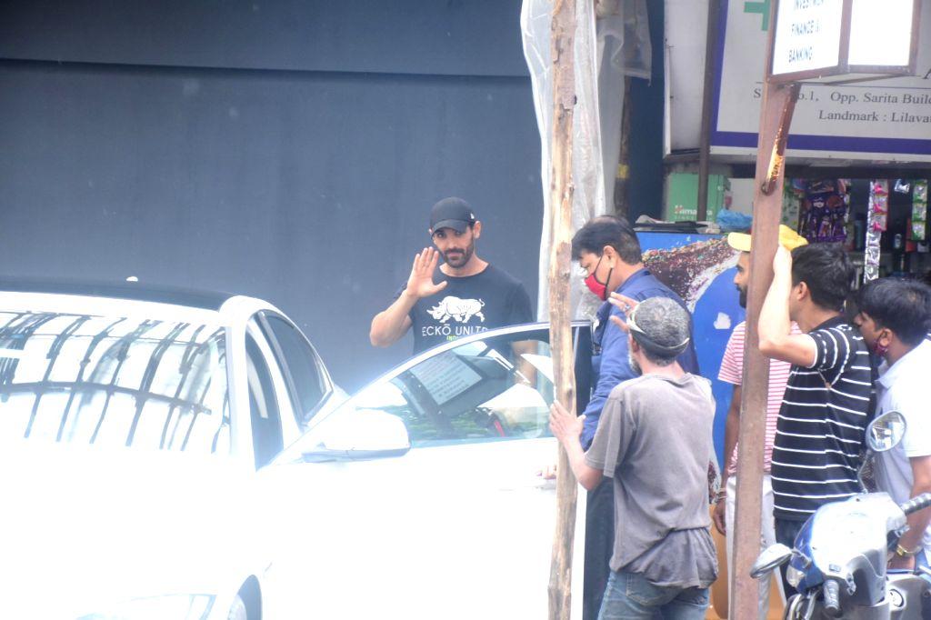 John Abraham Spotted At Bandra in Mumbai on Thursday 10 June 2021. - John Abraham