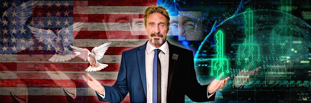 John McAfee. (Photo By: twitter@officialmcafee)