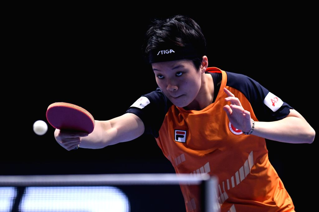 JOHOR BAHRU, July 18, 2019 - Doo Hoi Kem of Hong Kong of China competes during the women's singles first round match against Chen Meng of China at T2 Diamond 2019 Malaysia day 1 in Johor Bahru, ...