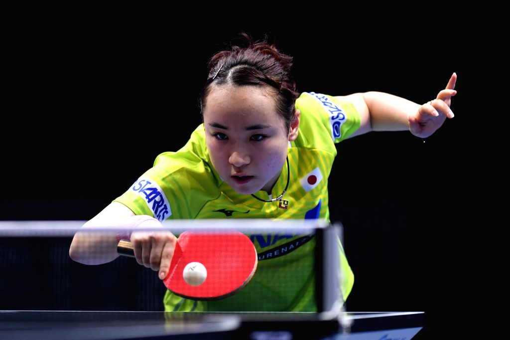 JOHOR BAHRU, July 18, 2019 - Mima Ito of Japan competes during the women's singles first round match against her teammate Miyu Kato at T2 Diamond 2019 Malaysia day 1 in Johor Bahru, Malaysia, July ...