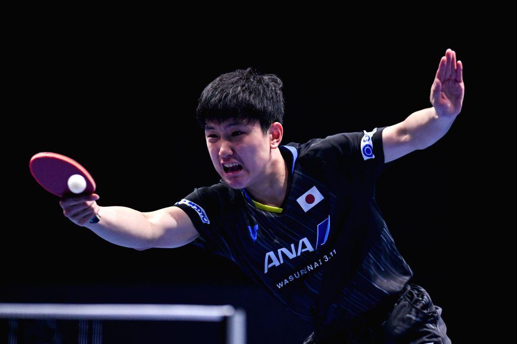 JOHOR BAHRU, July 18, 2019 - Tomokazu Harimoto competes during the men's singles round of 16 match between Wong Chun Ting of China's Hong Kong and Tomokazu Harimoto of Japan at T2 Diamond 2019 ...