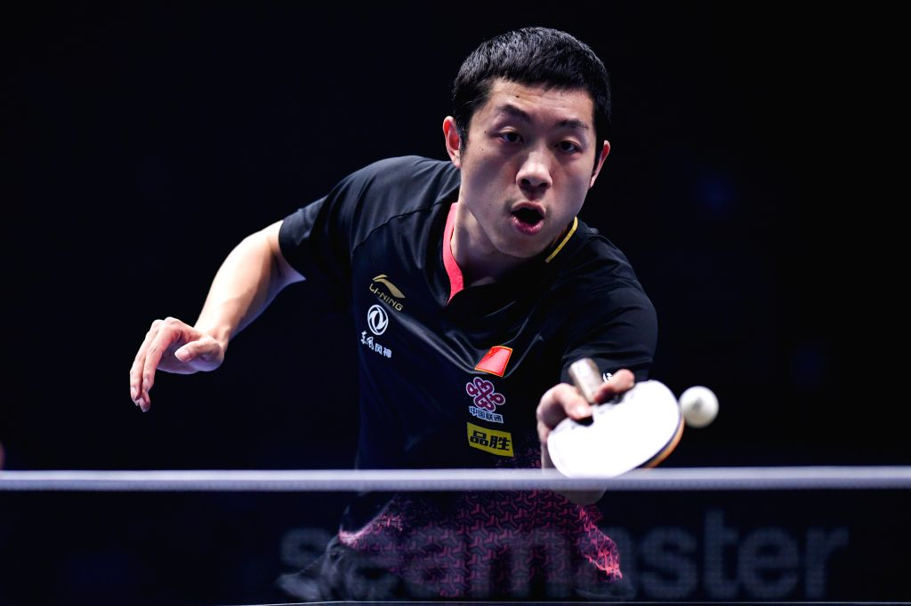 JOHOR BAHRU, July 18, 2019 - Xu Xin of China competes during the men's singles first round match between Xu Xin of China and Dimitrij Ovtcharov of Germany at T2 Diamond 2019 Malaysia table tennis ...