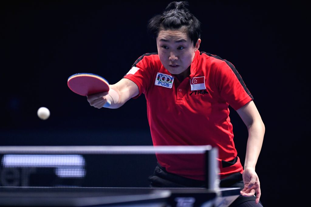 JOHOR BAHRU, July 19, 2019 - Feng Tianwei of Singapore competes during the women's singles first round match between