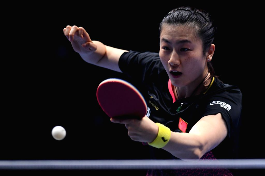 JOHOR BAHRU, July 20, 2019 - Ding Ning competes during the women's singles quarterfinal match between Ding Ning of China and Feng Tianwei of Singapure at T2 Diamond Malaysia 2019 in Johor Bahru, ...