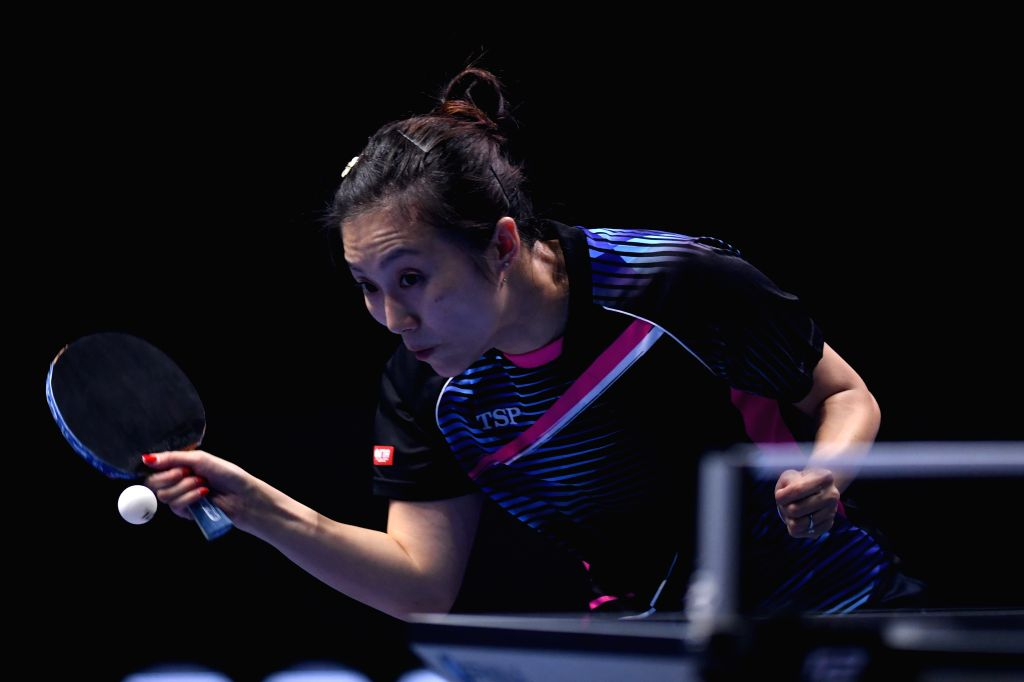 JOHOR BAHRU, July 20, 2019 - Han Ying of Germany competes during the women's singles quarterfinal match against Wang Manyu of China at T2 Diamond Malaysia 2019 in Johor Bahru, Malaysia, July 20, 2019.