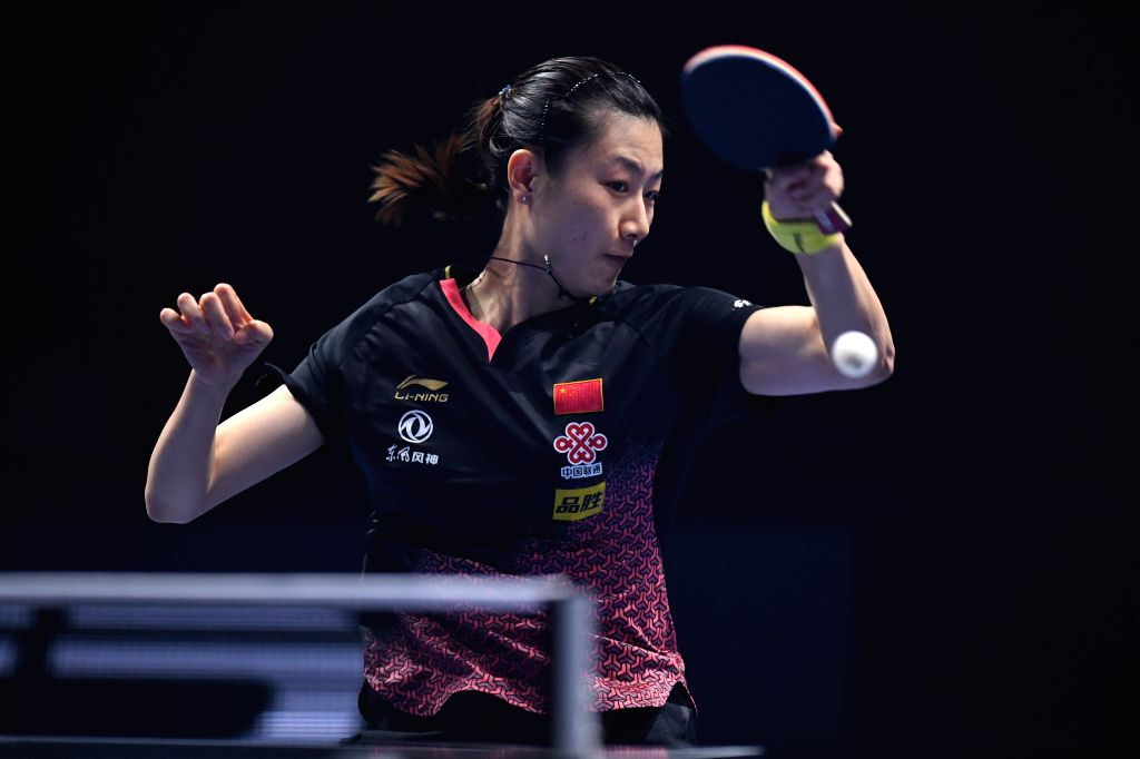 JOHOR BAHRU, July 21, 2019 - Ding Ning competes during the women's singles 3rd place match between Ding Ning of China and Kato Miyu of Japan at T2 Diamond Malaysia 2019 in Johor Bahru, Malaysia, July ...