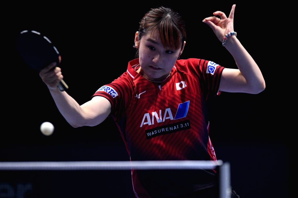 JOHOR BAHRU, July 21, 2019 - Kato Miyu competes during the women's singles 3rd place match between Ding Ning of China and Kato Miyu of Japan at T2 Diamond Malaysia 2019 in Johor Bahru, Malaysia, July ...