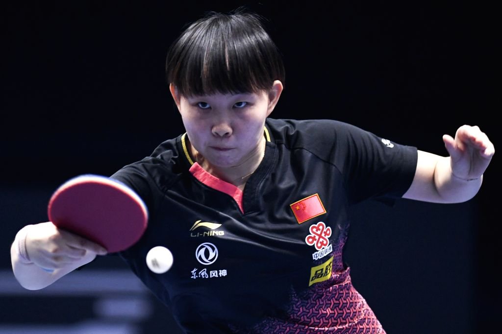 JOHOR BAHRU, July 21, 2019 - Zhu Yuling returns the ball during the women's singles final between Zhu Yuling of China and her compatriot Wang Manyu at T2 Diamond Malaysia 2019 in Johor Bahru, ...
