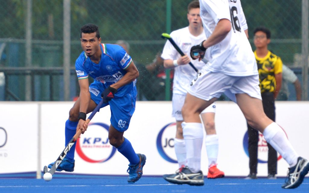 Johor Bahru: Players in action during the 9th Sultan of Johor Cup match between India and New Zealand in Johor Bahru, Malaysia, on Oct 13, 2019. (Photo: IANS)
