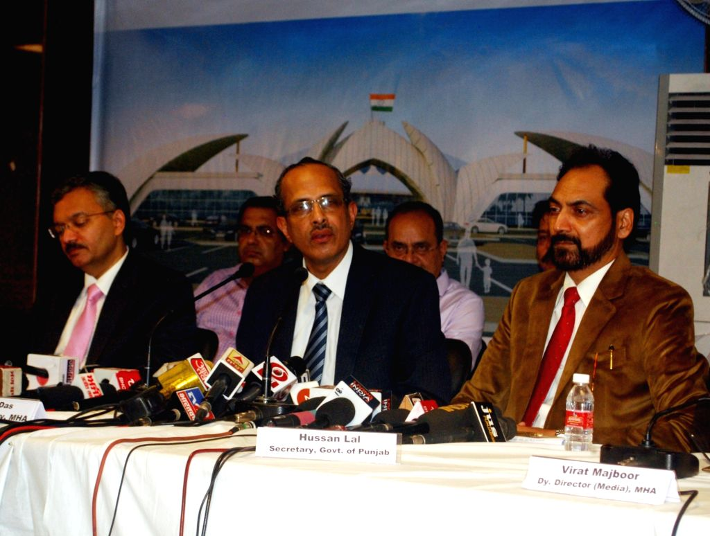 Joint Secretary, Internal Security, Ministry of Home Affairs SCL Das addresses a press conference after the the third round of talks were held between India and Pakistan for operationalising ...