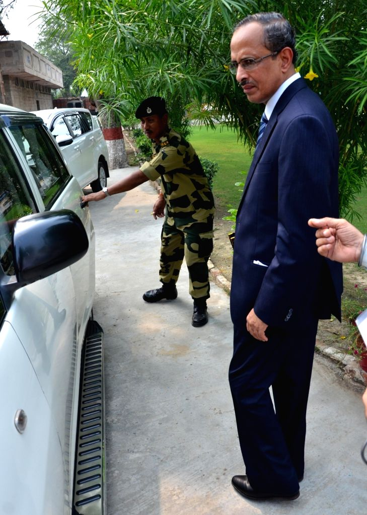 Joint Secretary, Internal Security, Ministry of Home Affairs SCL Das arrives to address a press conference after the the third round of talks were held between India and Pakistan for ...