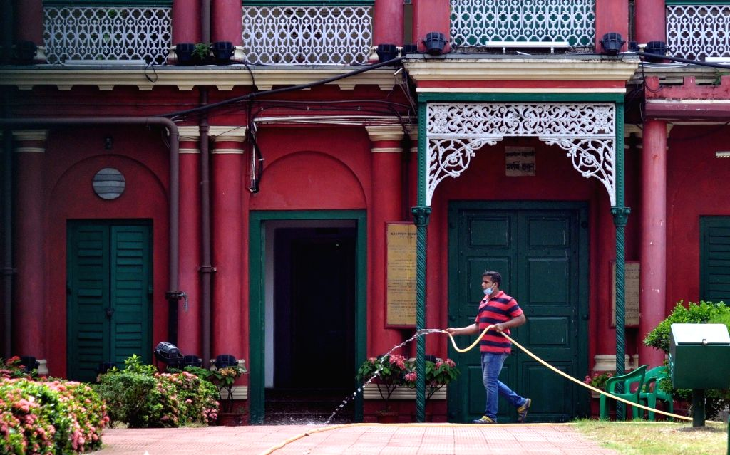 Jorasanko Thakur Bari bears a deserted look on the occasion of Rabindranath Tagore's birth anniversary after all programme cancelled during the extended nationwide lockdown imposed to ...