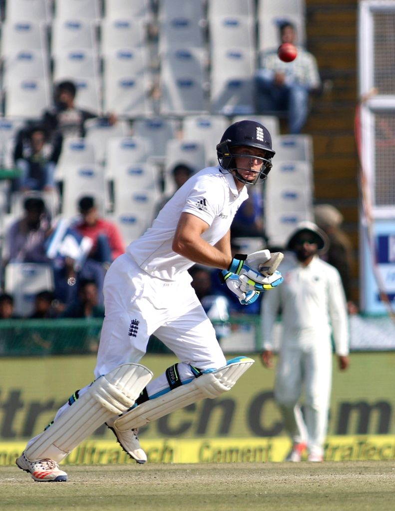 Jos Buttler of England in action during the third test match between India and England at Punjab Cricket Association IS Bindra Stadium in Mohali on Nov 26, 2016.
