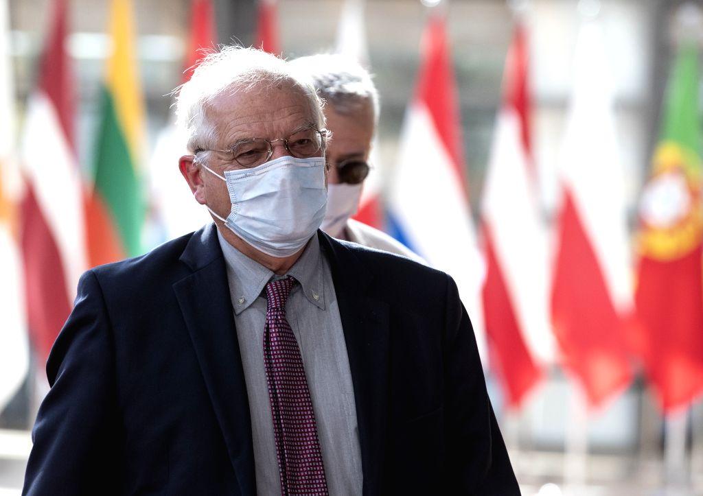 Josep Borrell Fontelles, High Representative of the EU for Foreign Affairs and Security Policy, arrives for a meeting of the EU Foreign Affairs Council at the EU ...