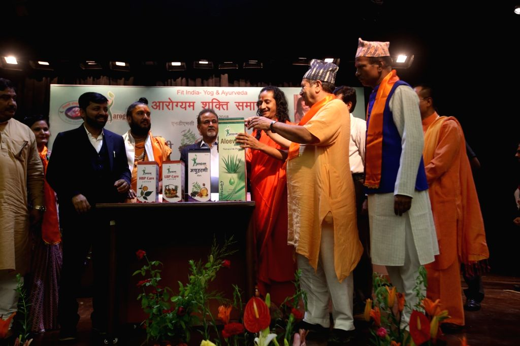 """Journalist Amalendu Kundu at the launch of his book """"The Shadow of the Dragon and Recent Developments"""" in New Delhi on July 29, 2018."""