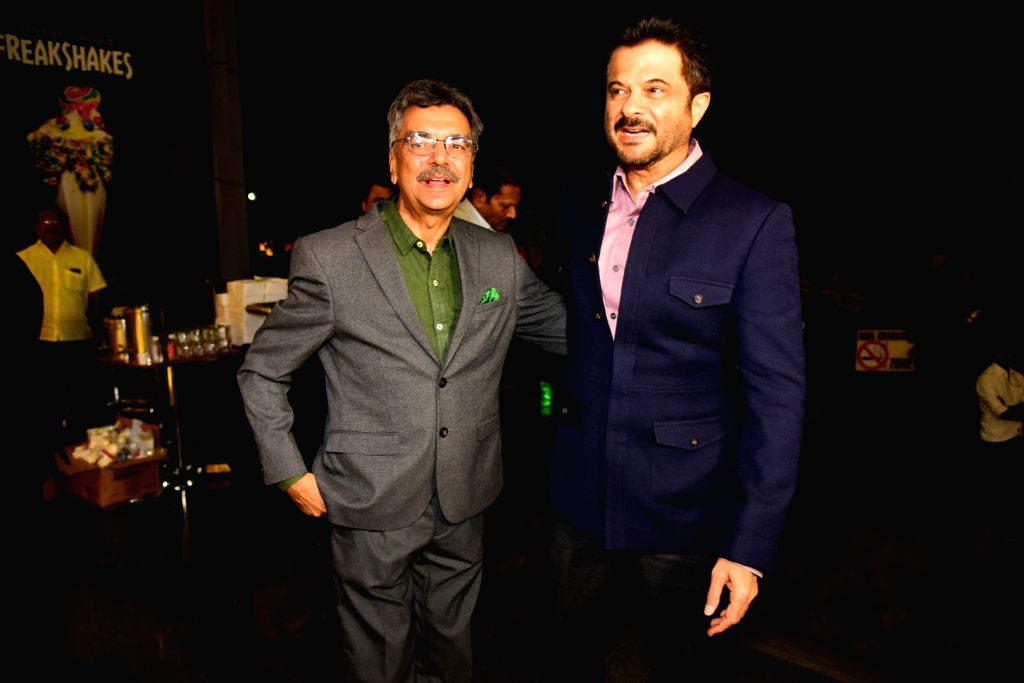 """Journalist and author Khalid Mohamed with actor Anil Kapoor at the launch of his book """"The Aladia Sisters"""" in Mumbai on Oct 7, 2019. - Anil Kapoor"""